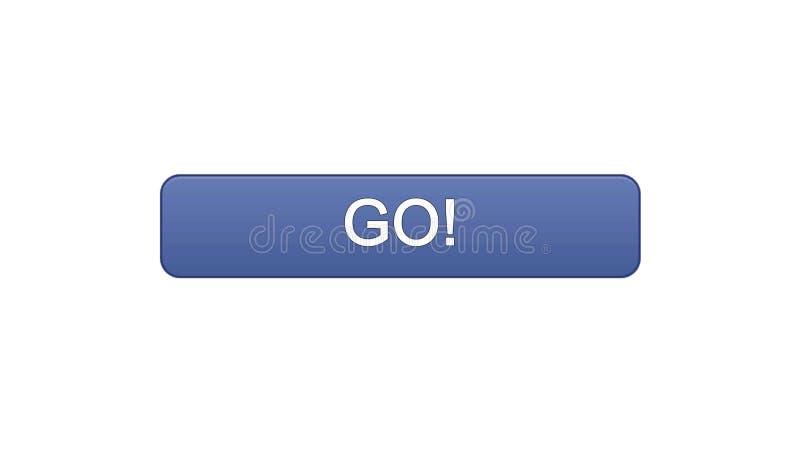 Va il colore viola del bottone dell'interfaccia di web, lo sviluppo di istruzione, progettazione del sito illustrazione di stock