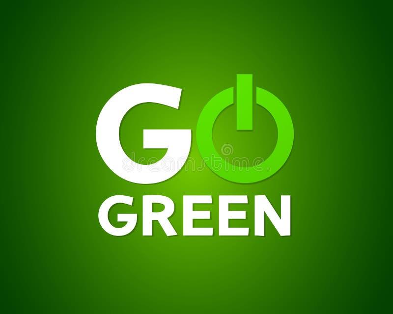 Va il concetto di potere verde illustrazione di stock
