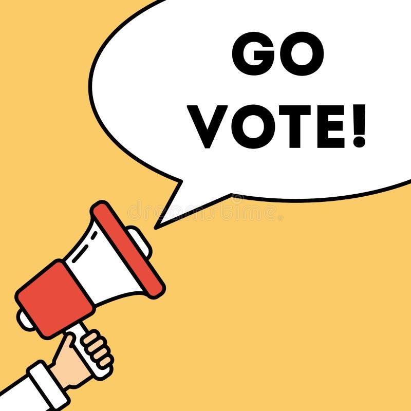 Va il concetto di voto royalty illustrazione gratis