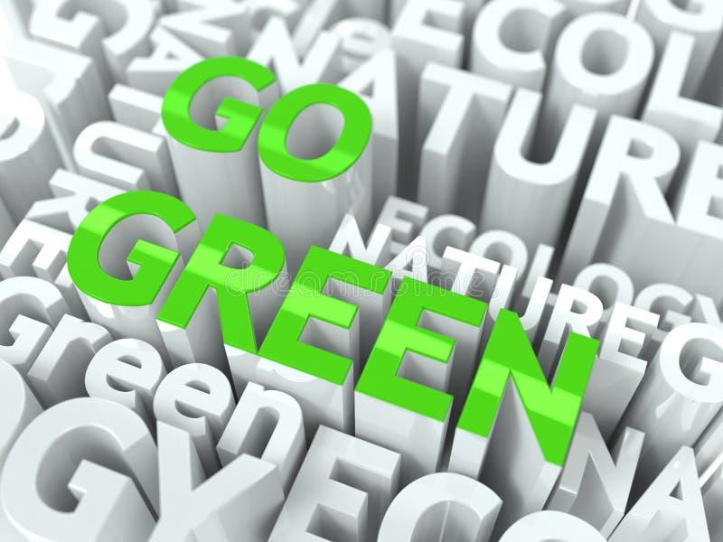 Va il concetto verde. illustrazione vettoriale