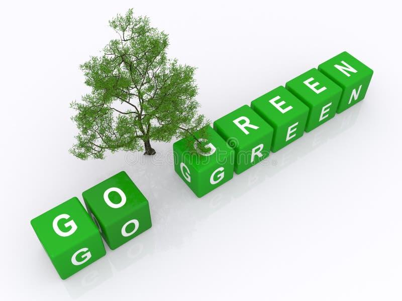 Va il concetto verde illustrazione di stock