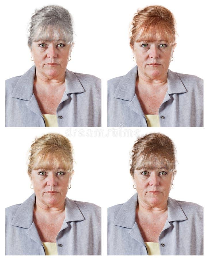 Va il gray o tinge i capelli? fotografie stock libere da diritti