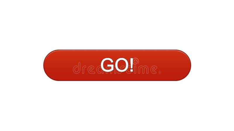 Va il rosso di vino del bottone dell'interfaccia di web, lo sviluppo di istruzione, progettazione del sito di affari illustrazione vettoriale