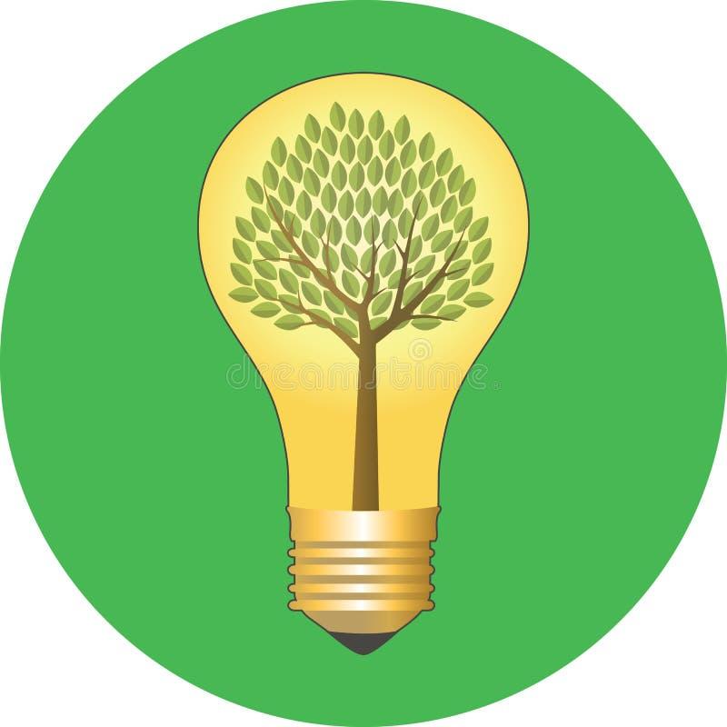 Va il verde, concetto di eco Progettazione piana royalty illustrazione gratis
