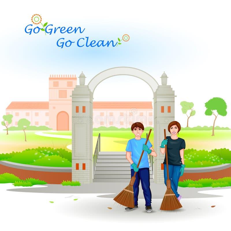Va il verde va pulito royalty illustrazione gratis