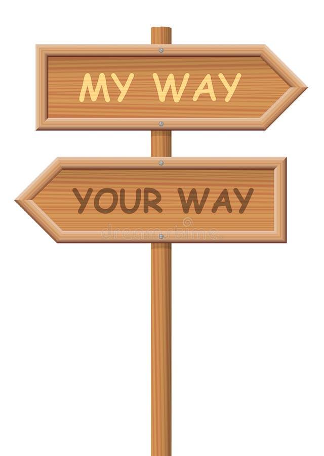 Va il vostro proprio cartello di modo illustrazione vettoriale