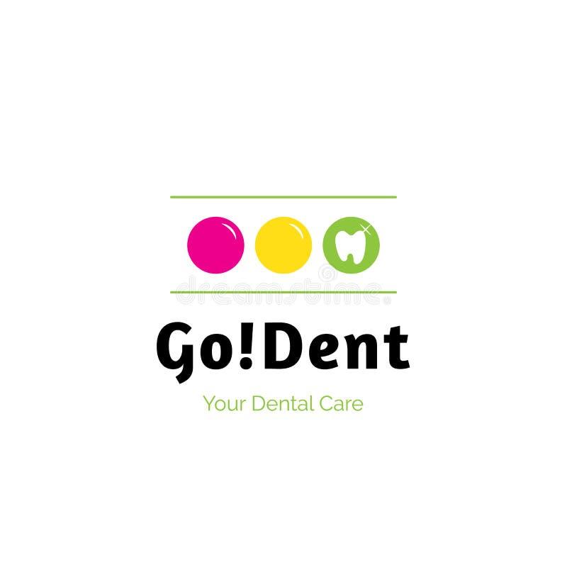 Va l'ammaccatura, il logo dell'emblema dell'ospedale della clinica dell'odontoiatria, concetto della medicina di cure odontoiatri royalty illustrazione gratis