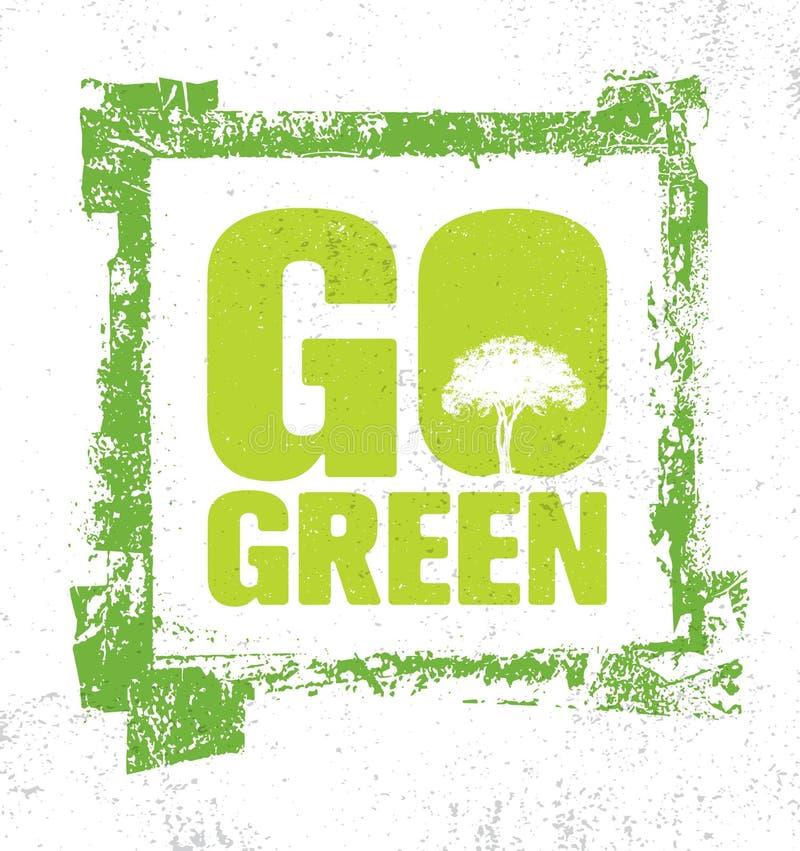 Va l'elemento creativo verde di progettazione di verde di Eco di vettore Bio- concetto organico su fondo approssimativo naturale illustrazione di stock