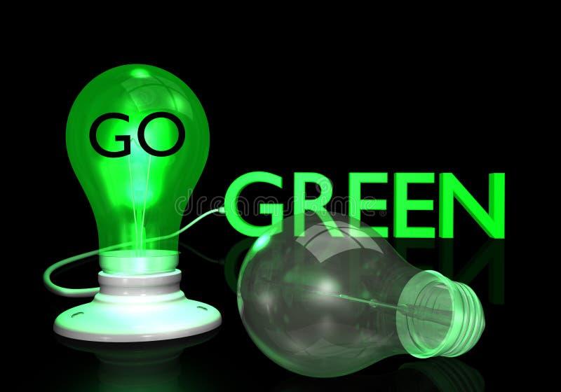 Va la lampadina verde illustrazione di stock