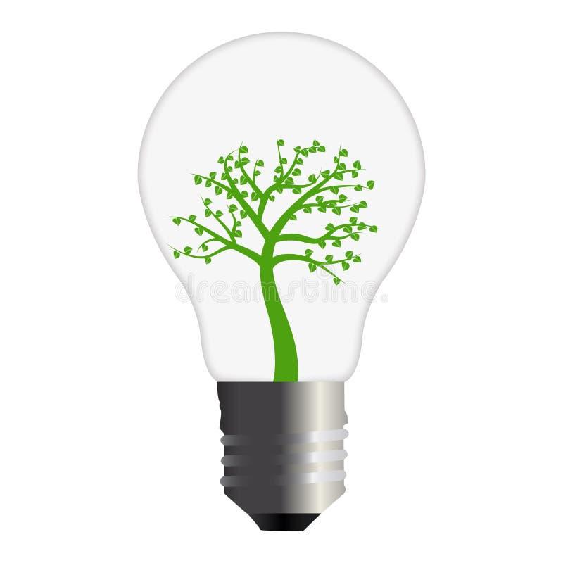 Va la lampadina verde illustrazione vettoriale