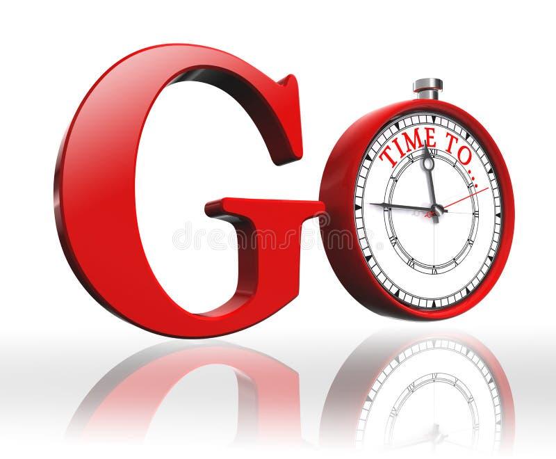 Va la parola rossa e cronometra illustrazione vettoriale