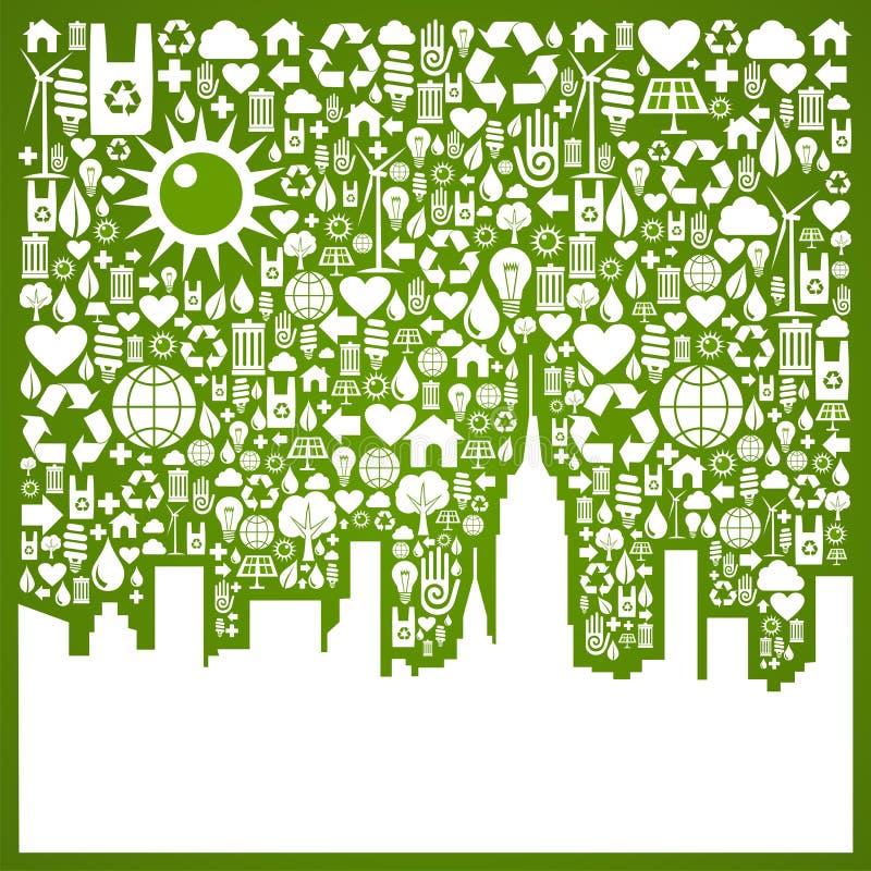 Va la priorità bassa verde della città illustrazione di stock