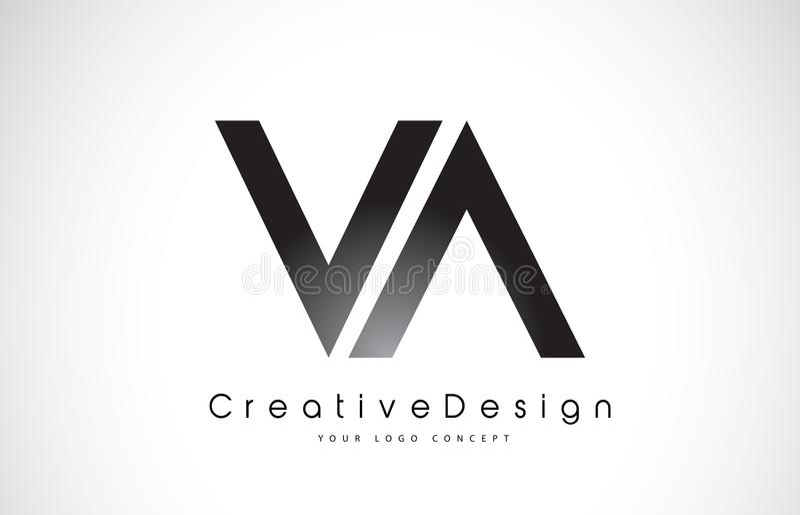 VA V信件商标设计 创造性的象现代信件传染媒介L 皇族释放例证