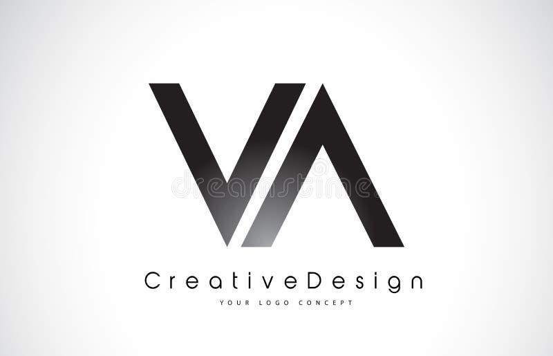 VA V A Letter Logo Design. Creative Icon Modern Letters Vector L royalty free illustration