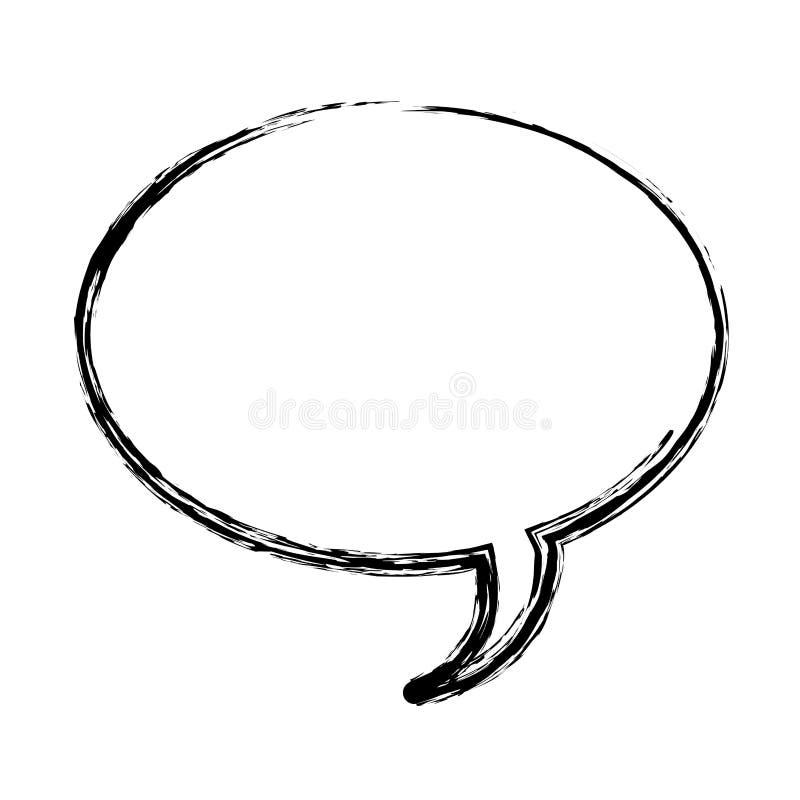 vaag de doospictogram van de silhouet ovaal dialoog royalty-vrije illustratie