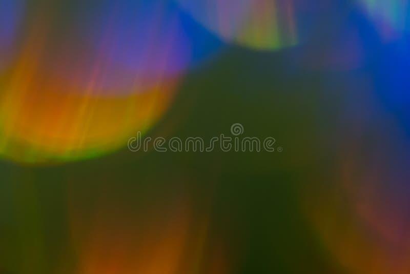 Vaag kleurrijk de gloed abstract ontwerp van de lensgloed royalty-vrije stock foto