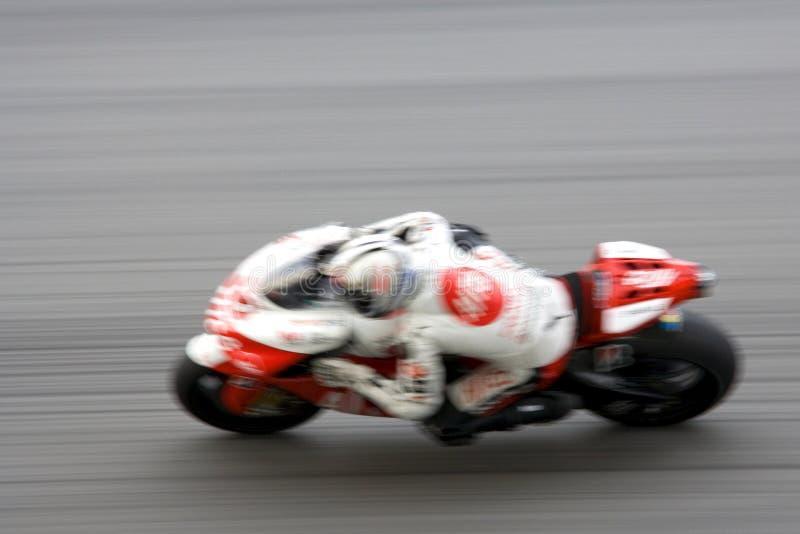 (Vaag) Rennen van Motogp royalty-vrije stock foto's