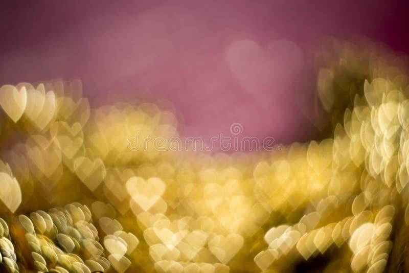 Vaag Roze en Goud stock afbeelding