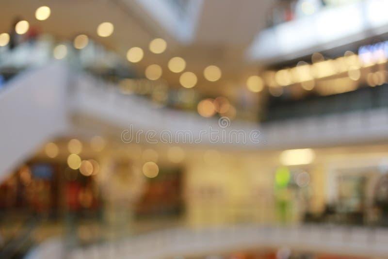 Vaag winkelcomplex of onduidelijk warenhuis stock fotografie