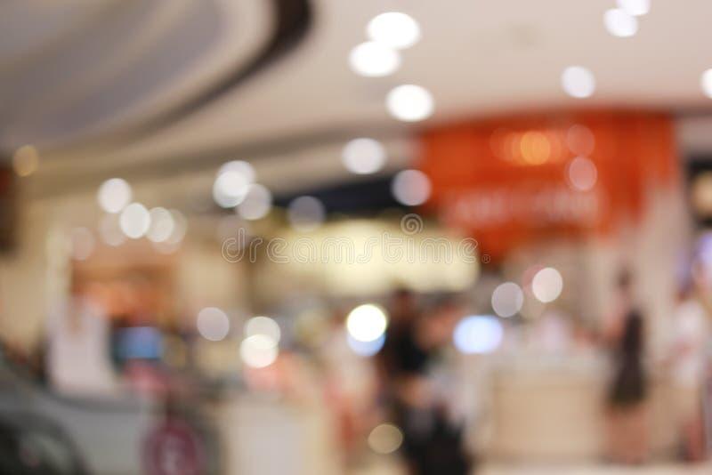 Vaag winkelcomplex of onduidelijk warenhuis royalty-vrije stock afbeelding