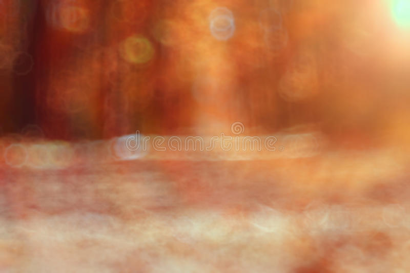 Vaag zonnig de herfstpark vector illustratie