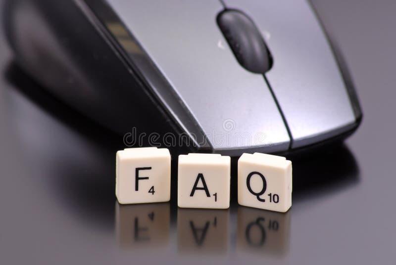 Vaak Gestelde Vragen stock afbeelding