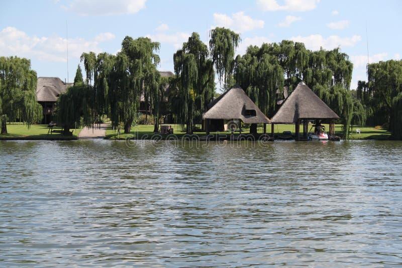 Vaal flod Sydafrika royaltyfria bilder