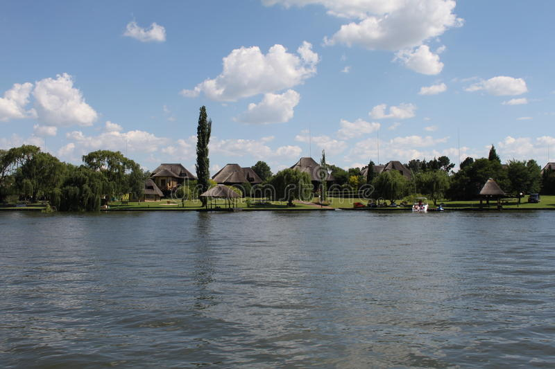 Vaal River South Africa. Vaal River at Vanderbijlpark South Africa stock photo