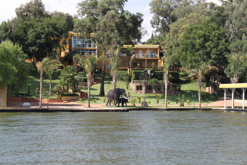 Vaal River South Africa. Vaal River at Vanderbijlpark South Africa royalty free stock images