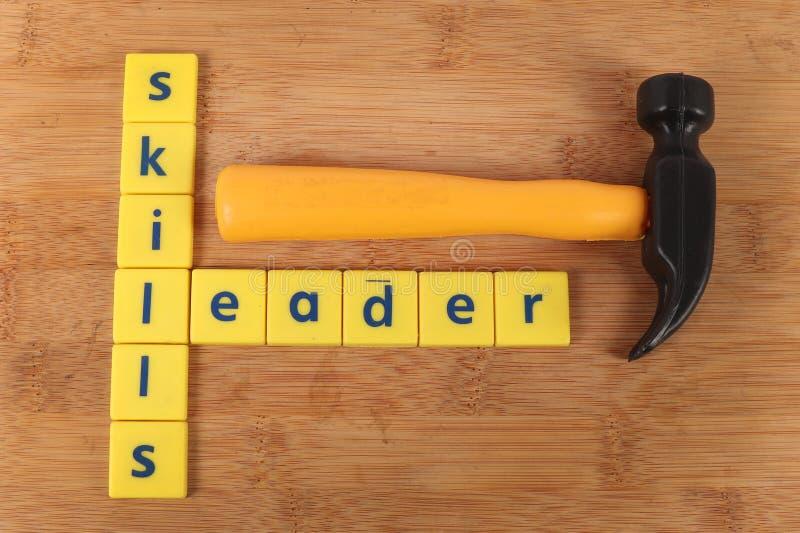 Vaardigheden en leider royalty-vrije stock afbeelding