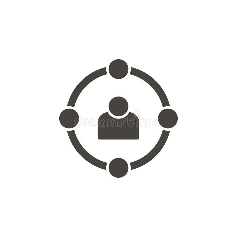 Vaardigheden, gebruikers, avatar vectorpictogram Eenvoudig element illustrationSkills, gebruikers, avatar vectorpictogram r vector illustratie