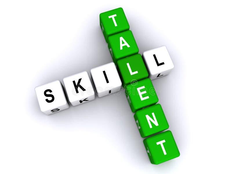 Vaardigheid en talent vector illustratie