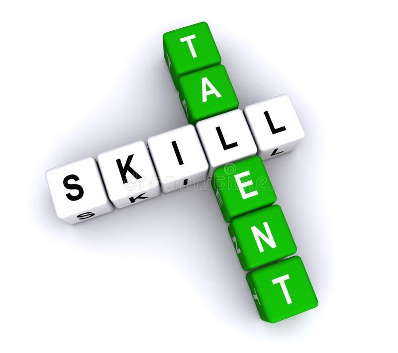 Vaardigheid en talent royalty-vrije illustratie