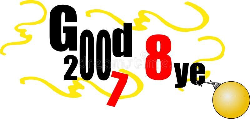 Vaarwel. Het gelukkige nieuwe jaar van 2008 royalty-vrije illustratie