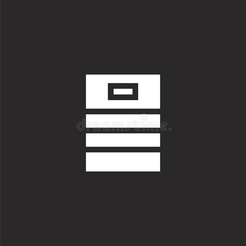 Vaatjepictogram Gevuld Vaatjepictogram voor websiteontwerp en mobiel, app ontwikkeling Vaatjepictogram van gevulde die bierinzame vector illustratie