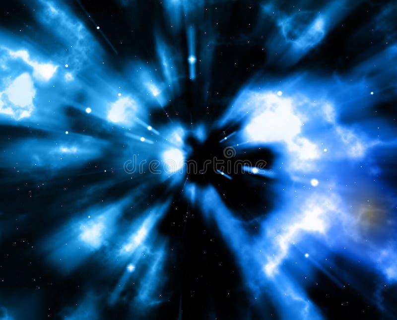 Vacío azul del espacio stock de ilustración