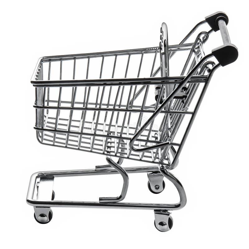 Vacío de la carretilla del carro de la compra aislado imagen de archivo libre de regalías