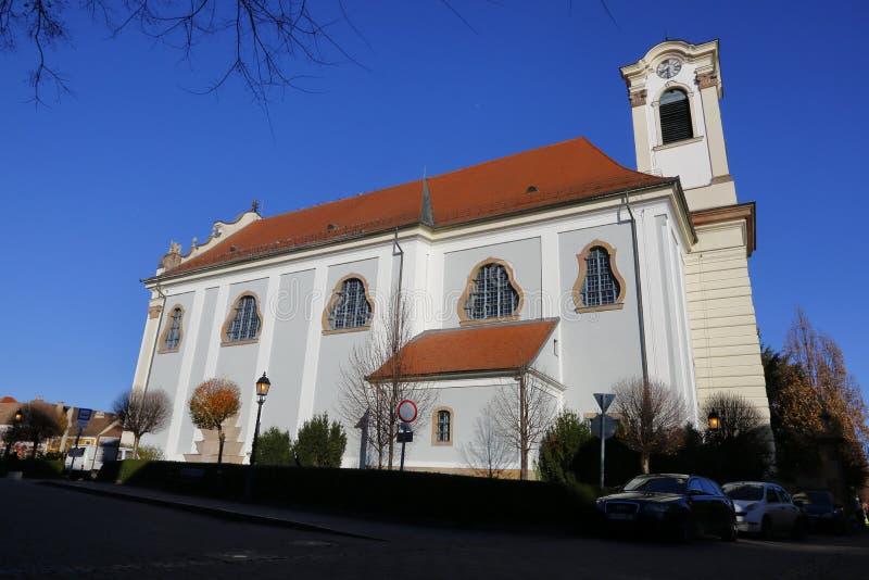 Vac教会在Vac,匈牙利, 2015年11月24日 库存照片