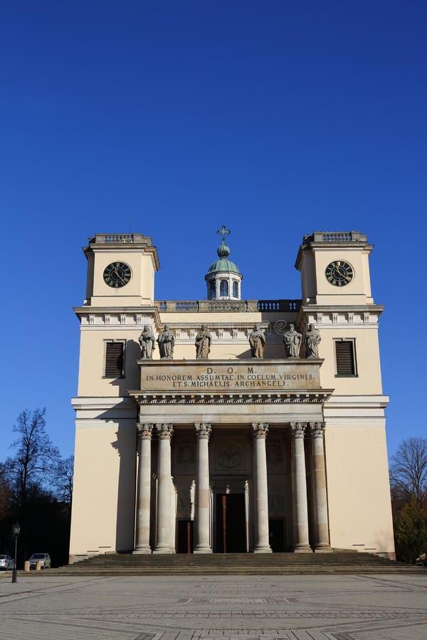 Vac church in Vac,Hungary,24 Nov 2015 stock photo