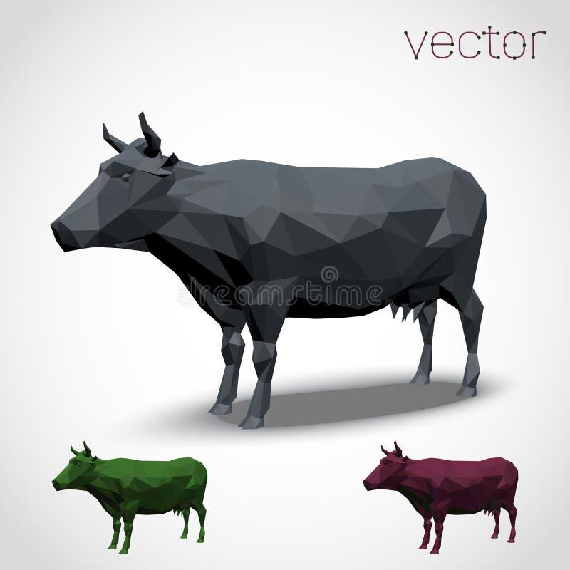 Vaca abstracta poligonal fotografía de archivo