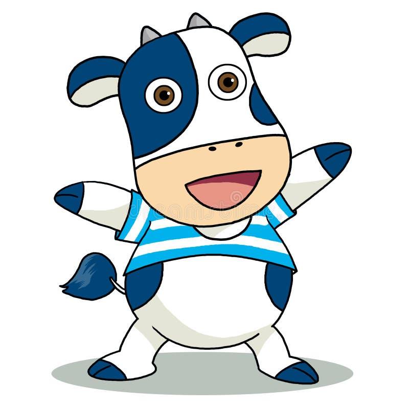 Vaca azul ilustração do vetor