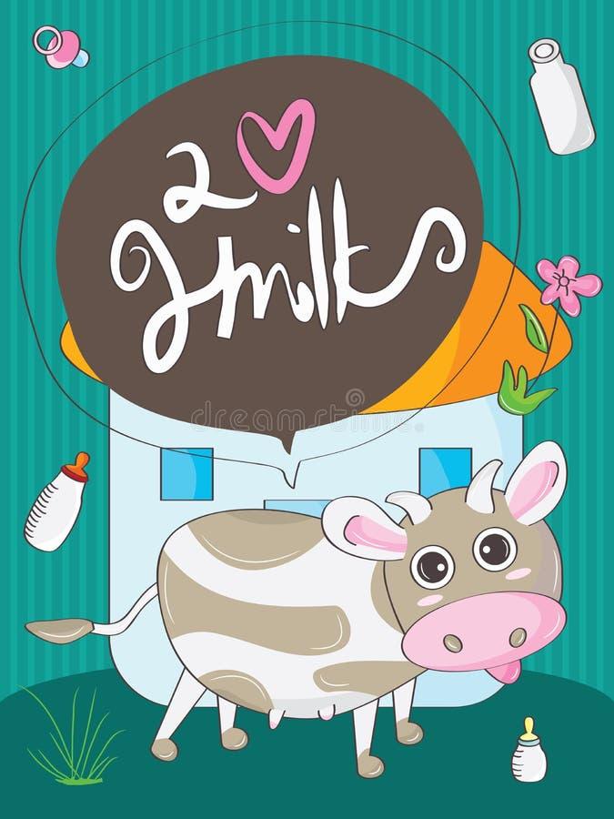 Vaca bonito ilustração royalty free