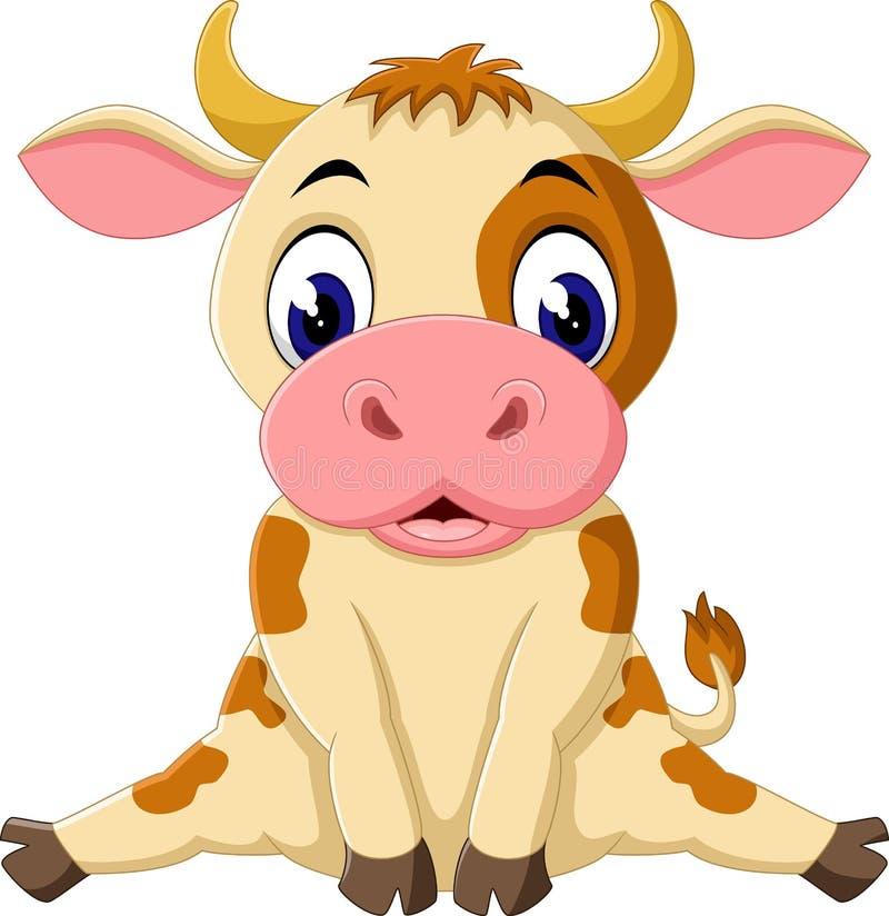 Vaca bonito ilustração stock