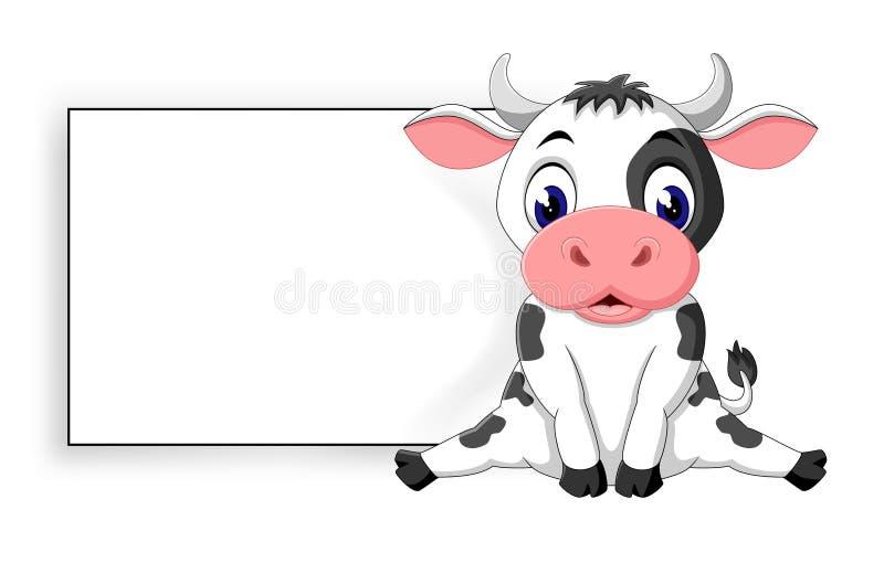 Vaca bonito ilustração do vetor
