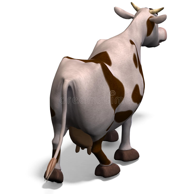 Vaca bonito e engraçada dos desenhos animados ilustração stock