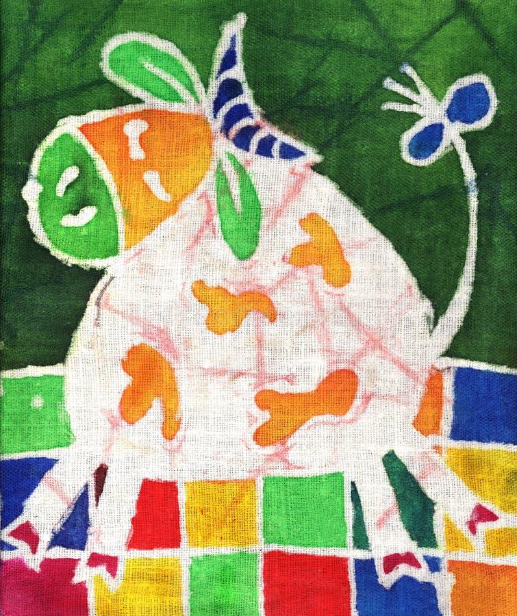 Vaca branca ilustração do vetor