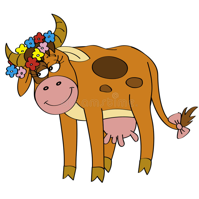 Vaca de Cutie ilustração stock
