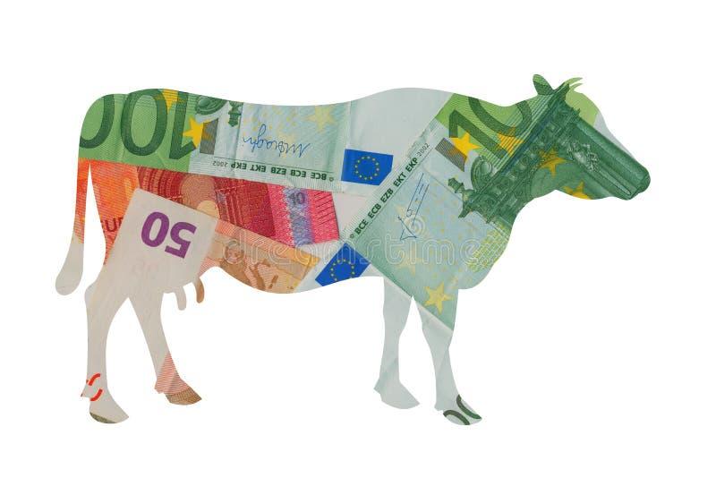 Vaca de dinheiro imagens de stock royalty free