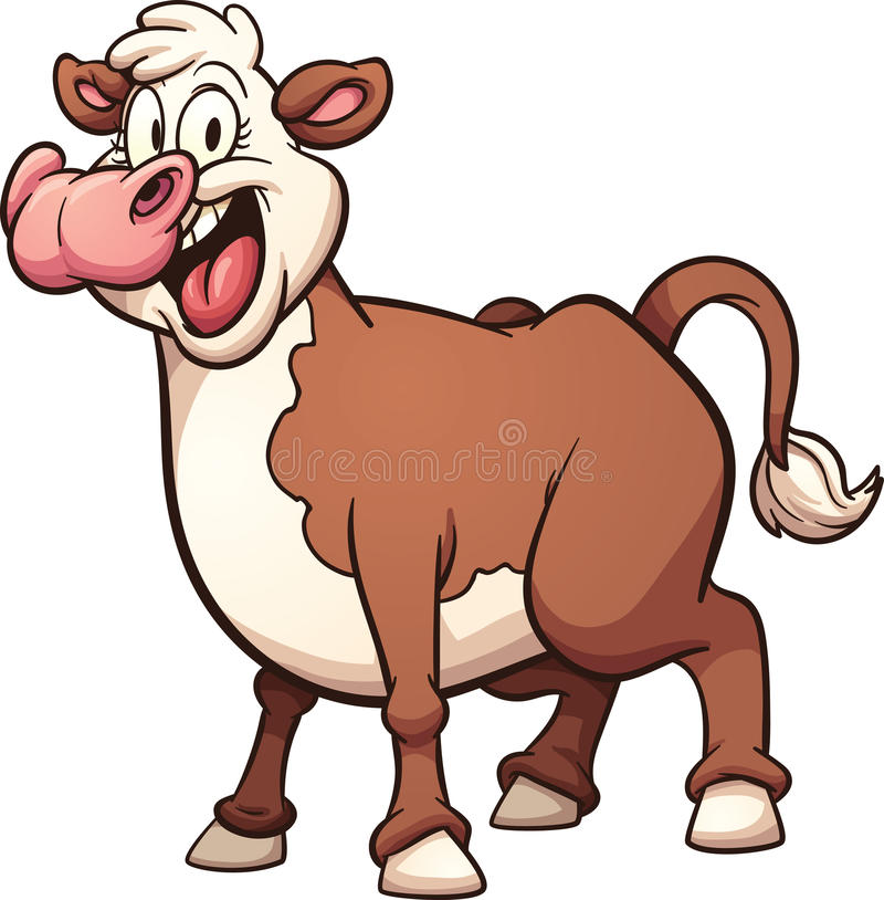 Vaca de la historieta libre illustration