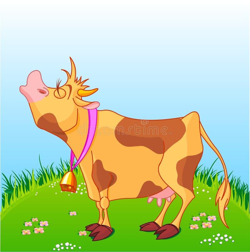 Vaca de la historieta ilustración del vector